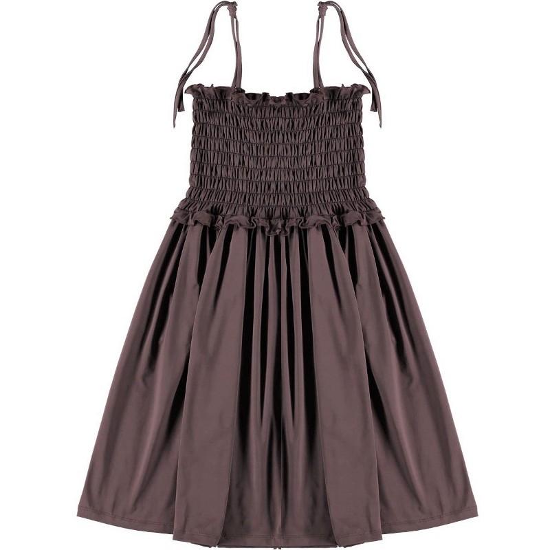 Beach Dress SMOCKED Burgundy