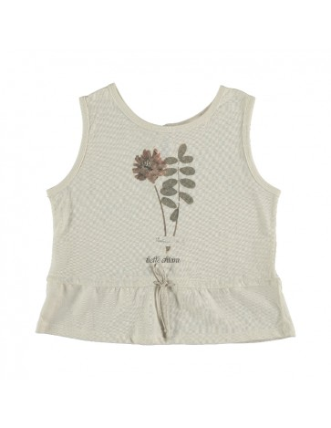 Sleeveless T-shirt PRINT...