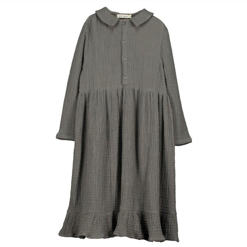 V08- Shirt Dress MOUSSELINE Gray