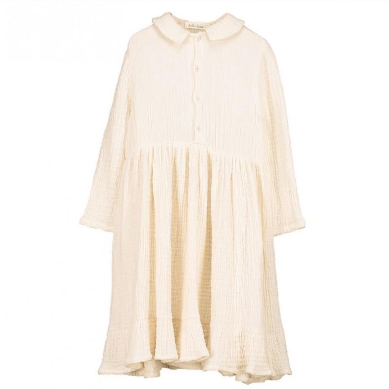 V08- Shirt Dress MOUSSELINE Cream