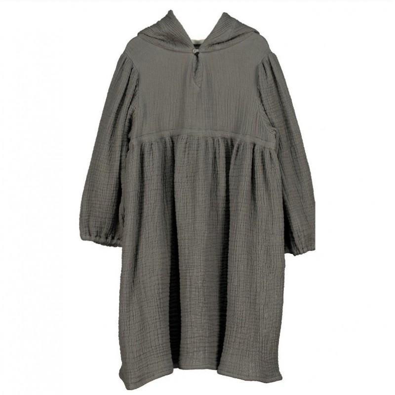 V06-Dress HOODIE OVERSIZE Gray