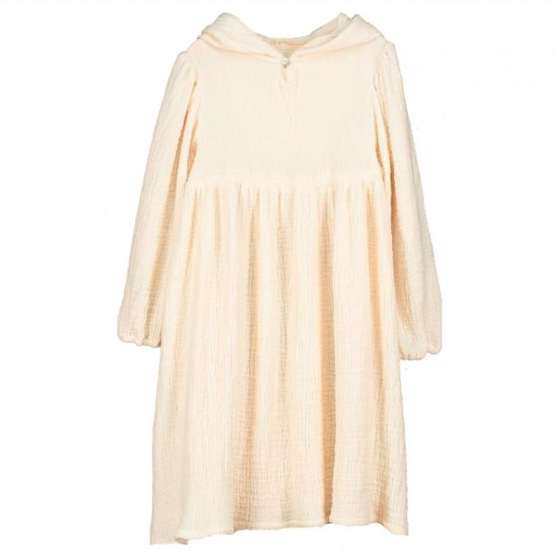 V06-Dress HOODIE OVERSIZE Beige