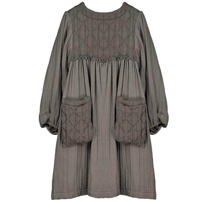V05-Dress WITH POCKETS Gray