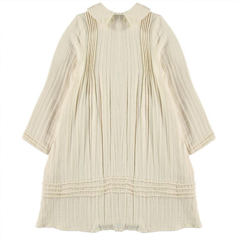 V02-Dress PLEATED DETAILS Beige