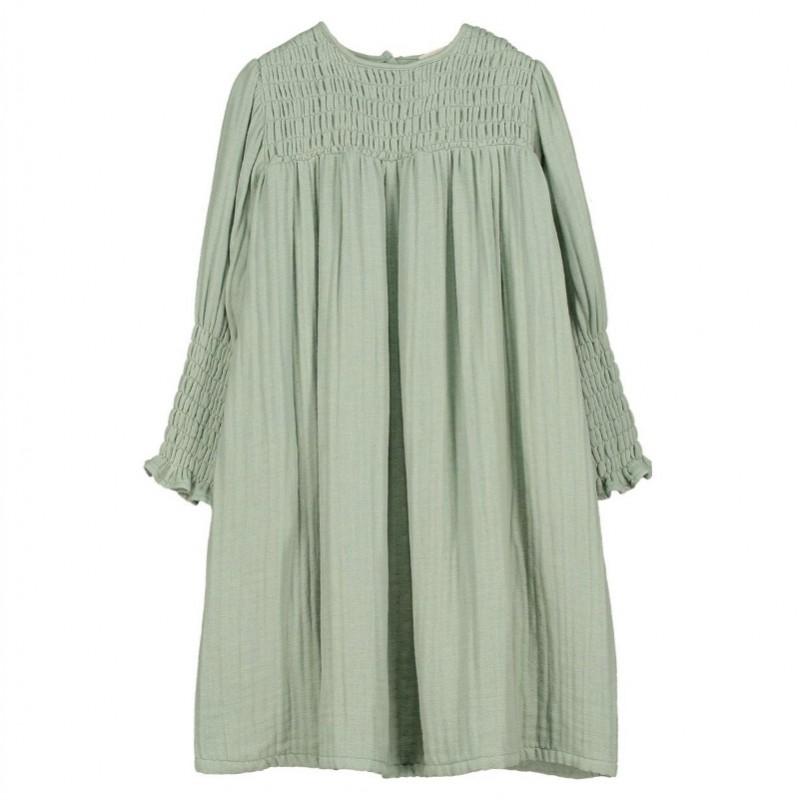 V07-Dress SMOCKED Green