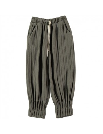 PA02-Pant PLEATED DETAILS Gray