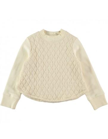 SU03-Sweatshirt PADDED Cream