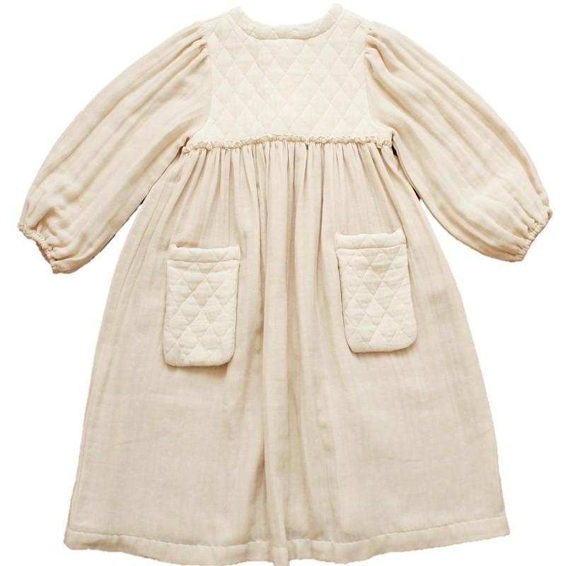 V05-Dress WITH POCKETS Cream