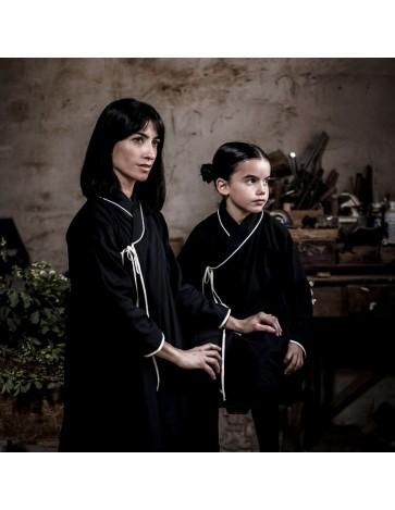 V01 - Vestido TRAPECIO - Negro