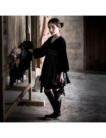 V02 - Vestido KIMONO - Negro