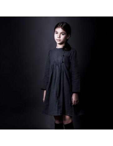 V06 - Vestido JARETAS - Gris - Botón Negro