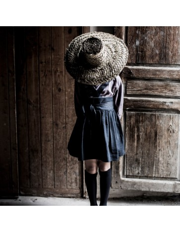 F01 Falda Tirantes Negra - B105 Blusa Trapecio cintas Malva medio