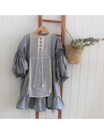 V11- Vestido DELANTAL DENIM