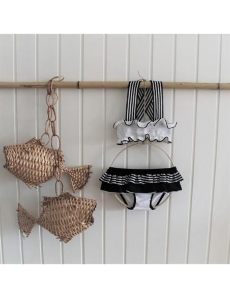 BK03-Bikini RAYAS - Blanco