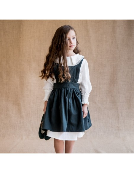 F03-Falda PETO SARGENT Abeto con V01-Vestido ENAGUA