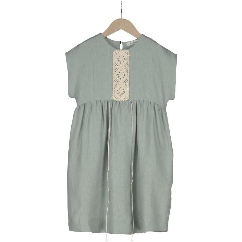 V03 - Vestido BIZET LINO Verde
