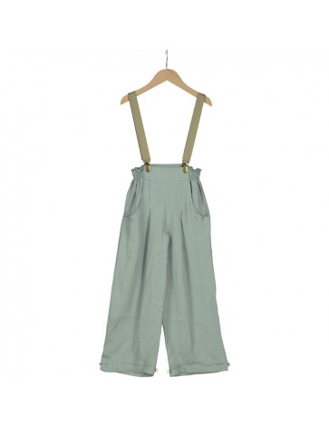 PA02-Pantalon LISZT LINO Verde