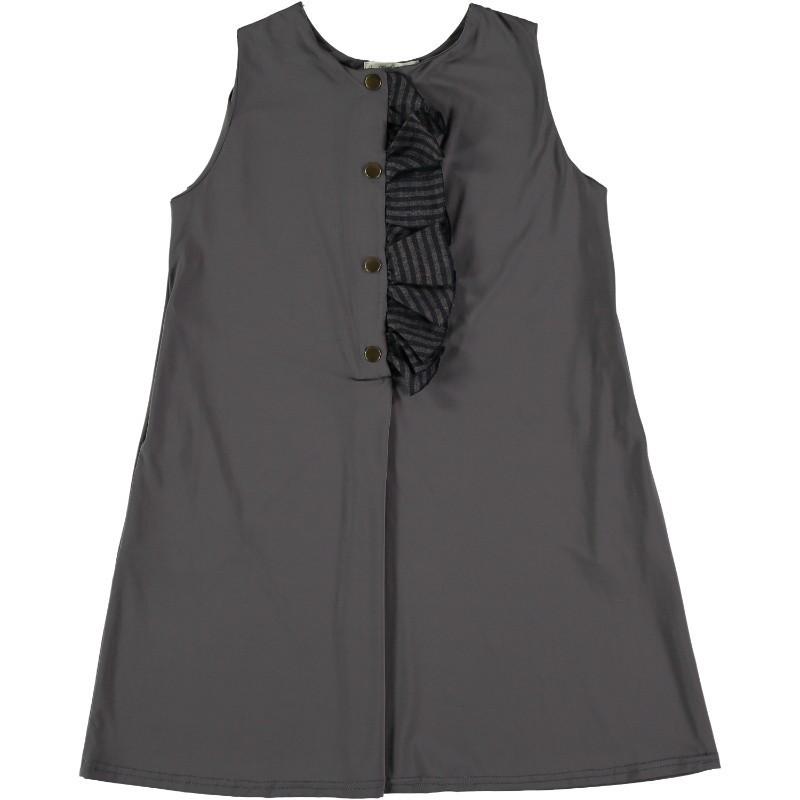 PL10-Vestido PLAYERO VOLANTON Piedra