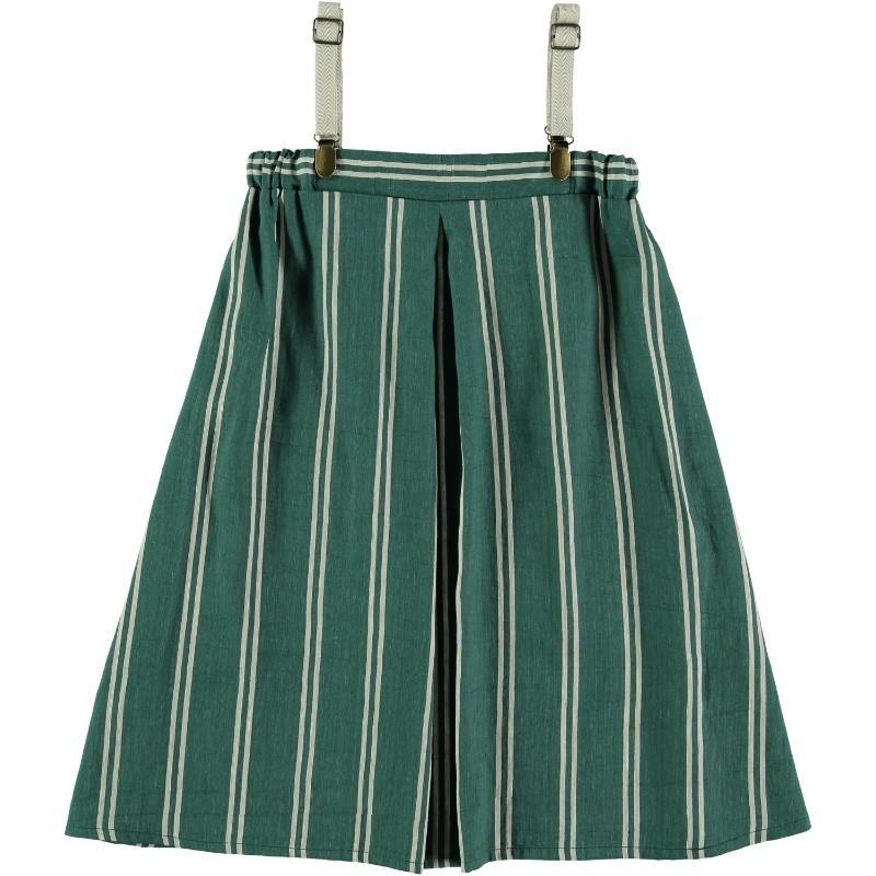 PL13-Vestido FUELLE RAYAS Verde