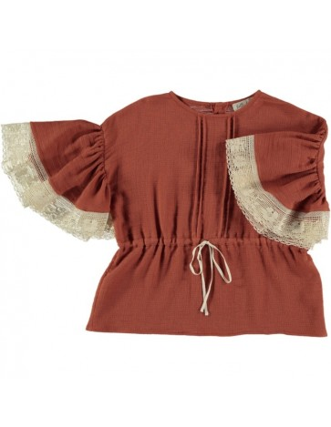 B04-Blouse Butterfly Sleeve...