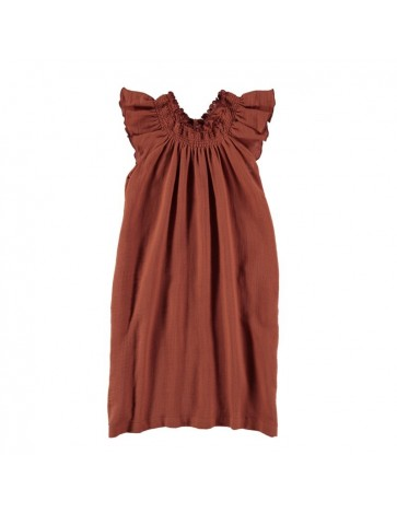 V01-Dress Long Terracotta