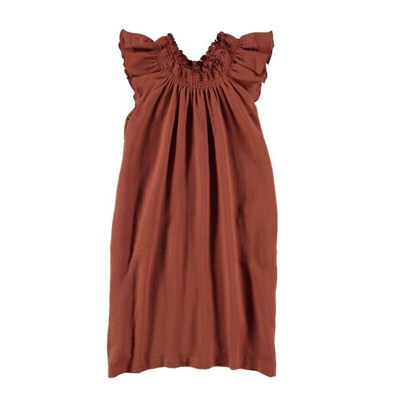 V01-Dress Long Terracotta