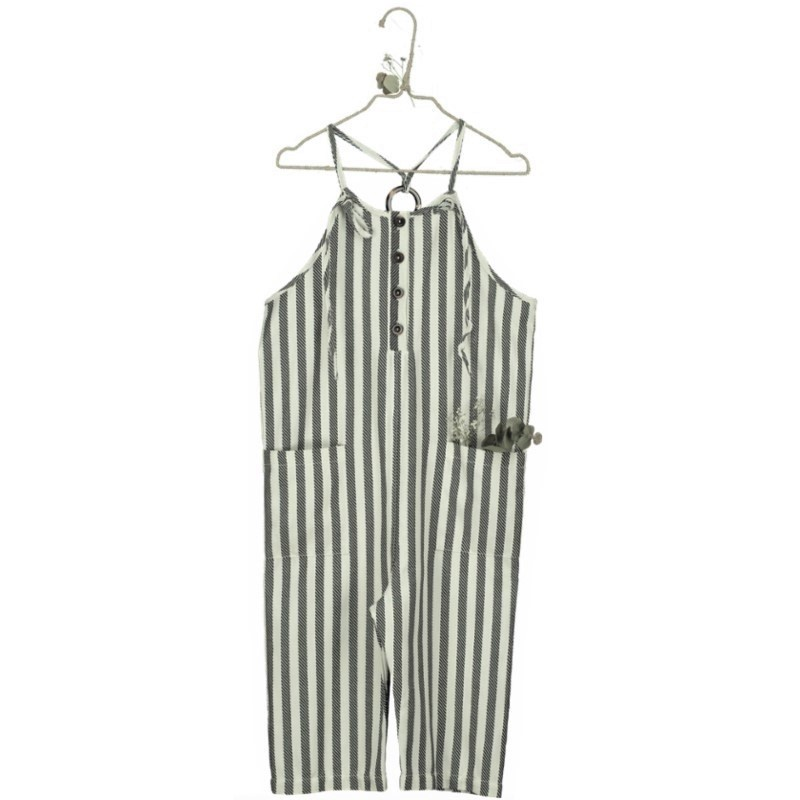MP01-JUMPSUIT Herringbone Stripe