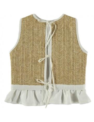 CH01-Vest Raffia Fabric