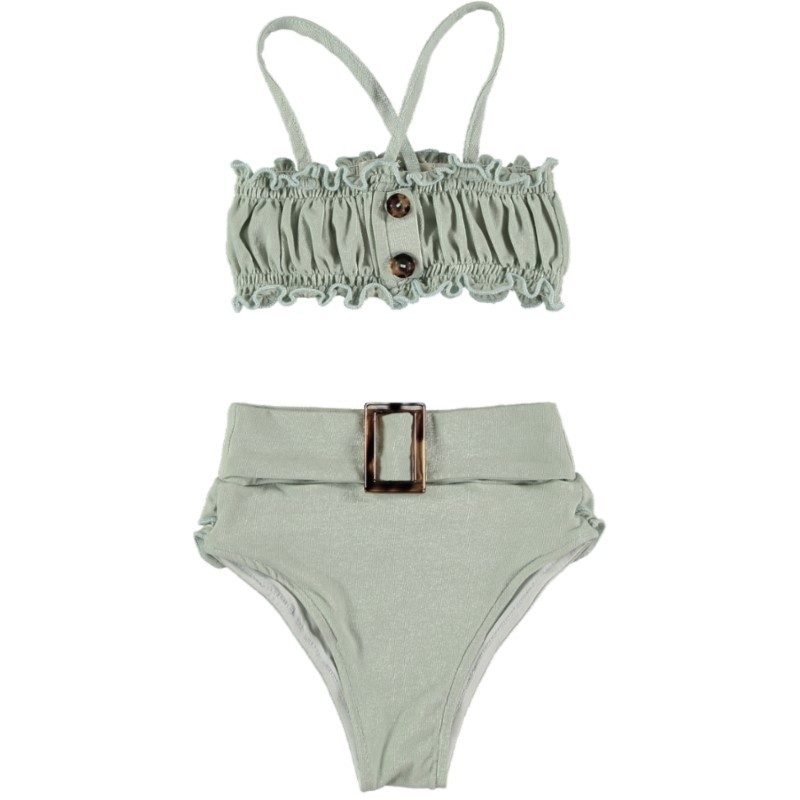 BK03-Bikini Set Cotton Aquamarine