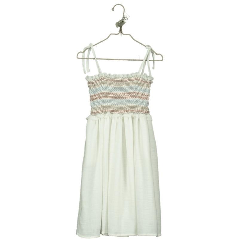 VP01-Dress SMOCK Embroidered