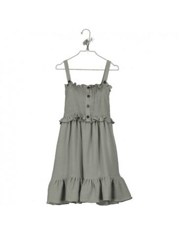 VP02-Dress SMOCKED Khaki