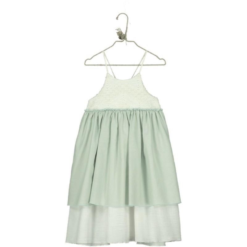 V07-Dress CONTRAST Aquamarine