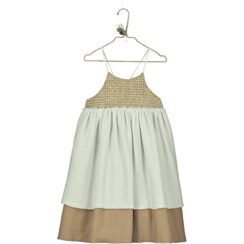 V07.1-Dress CONTRAST Raffia