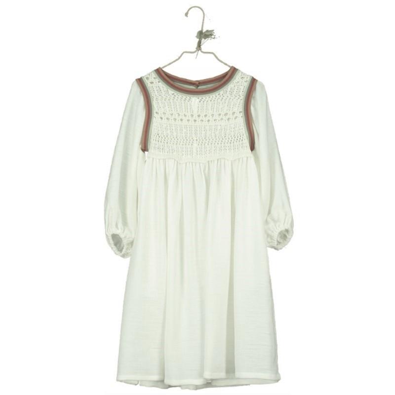 V08 Vestido Canesú Crochet