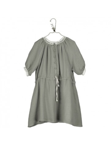 V03-Dress RAGLAN SLEEVE Khaki