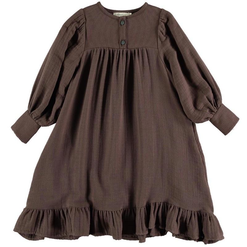 Dress RUFFLE Brown