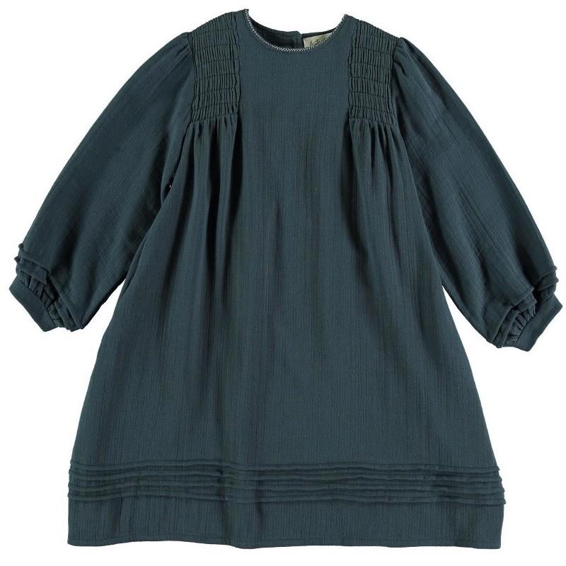 Dress SMOCK Washed Blue