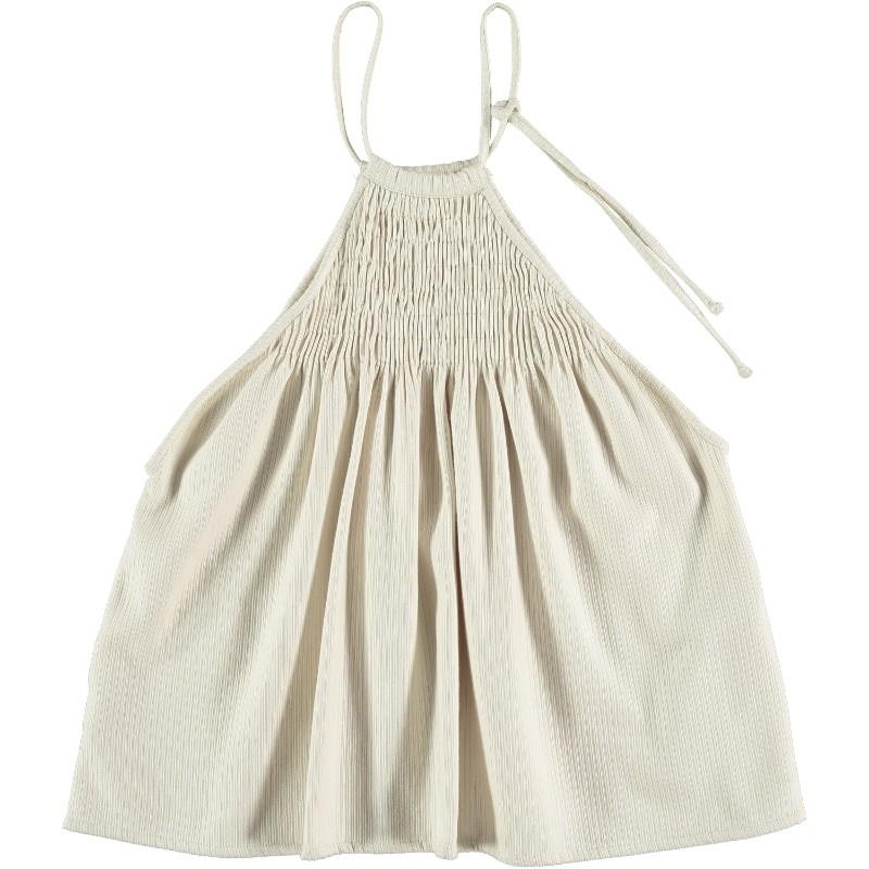 Apron dress STRAPPY SMOCKED