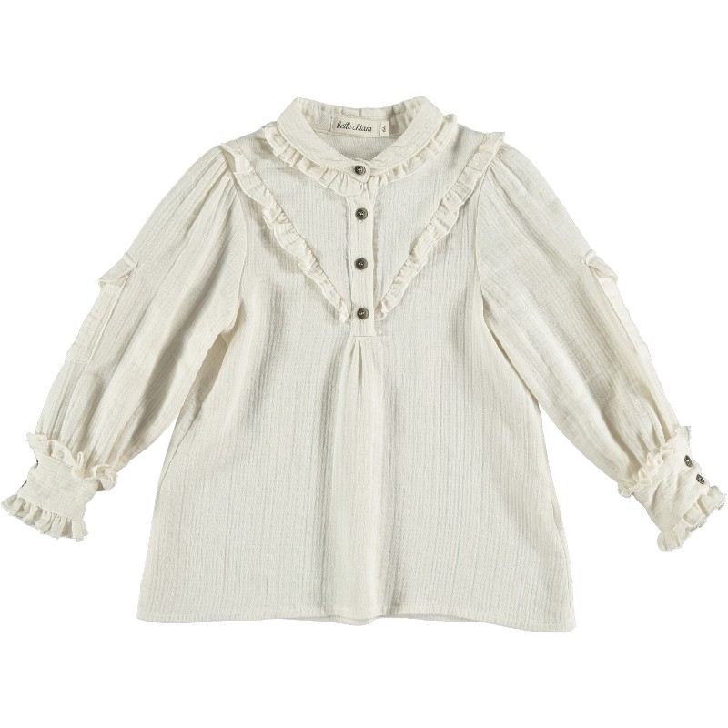 Blouse WITH POCKETS Beige