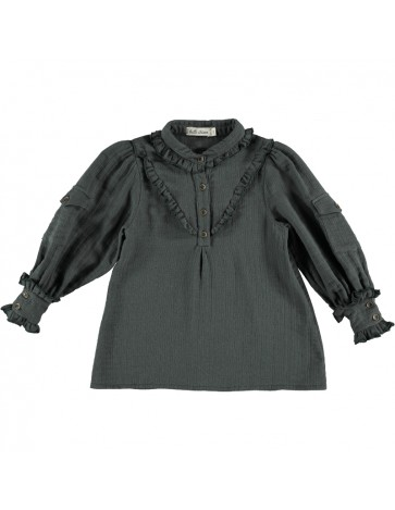 Blouse WITH POCKETS Dark...