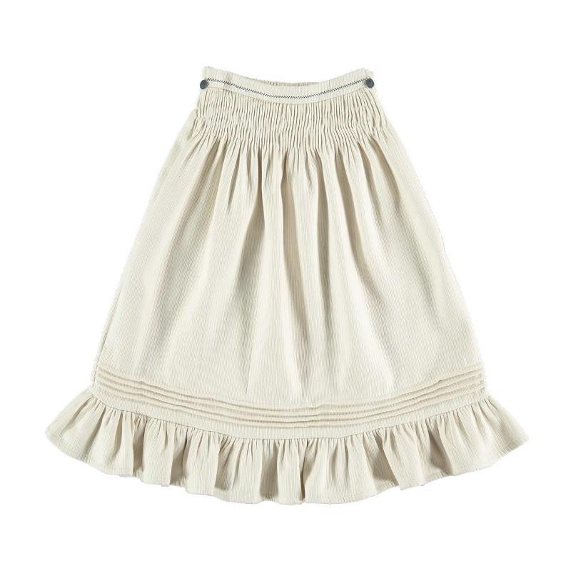 Skirt SMOCKED Beige