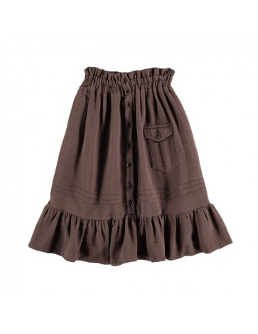 Skirt WITH POCKET Brown