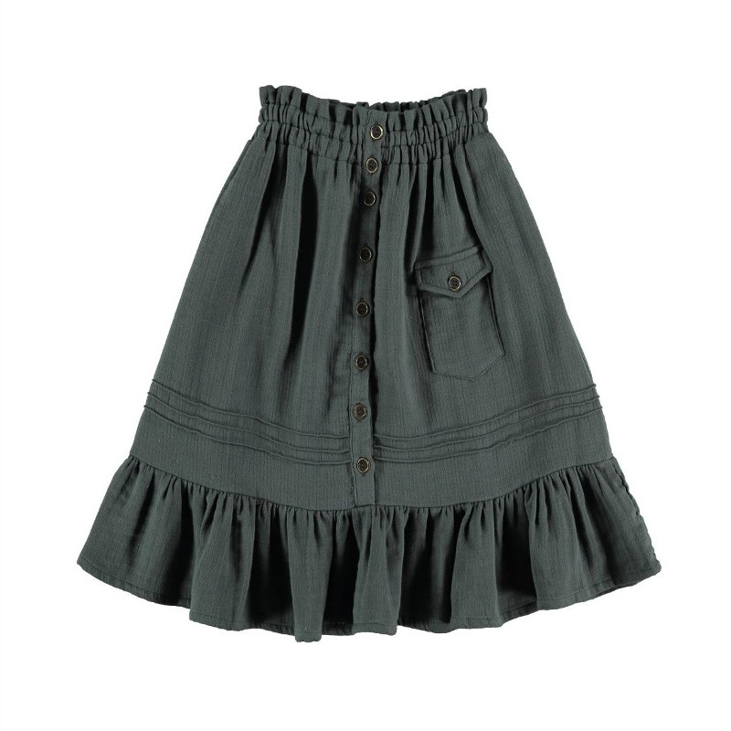 Skirt WITH POCKET Dark Greenish Grey