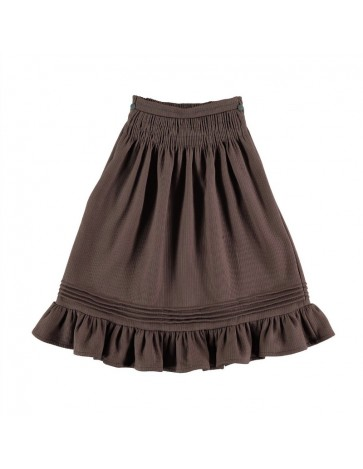 Skirt SMOCKED Brown