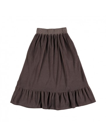 Skirt RUFFLE Brown