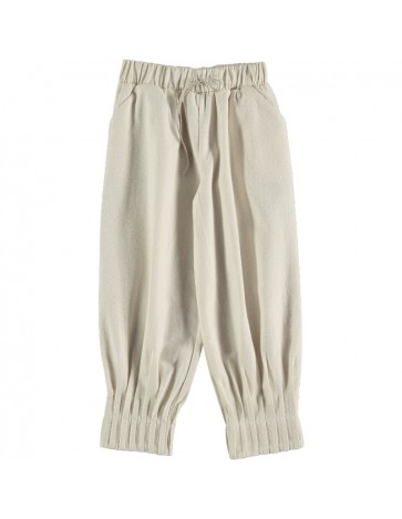 Pant PLEATED DETAILS Beige