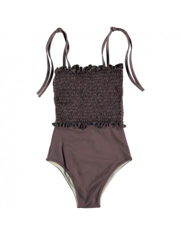 Swimsuit SMOCKED Burgundy