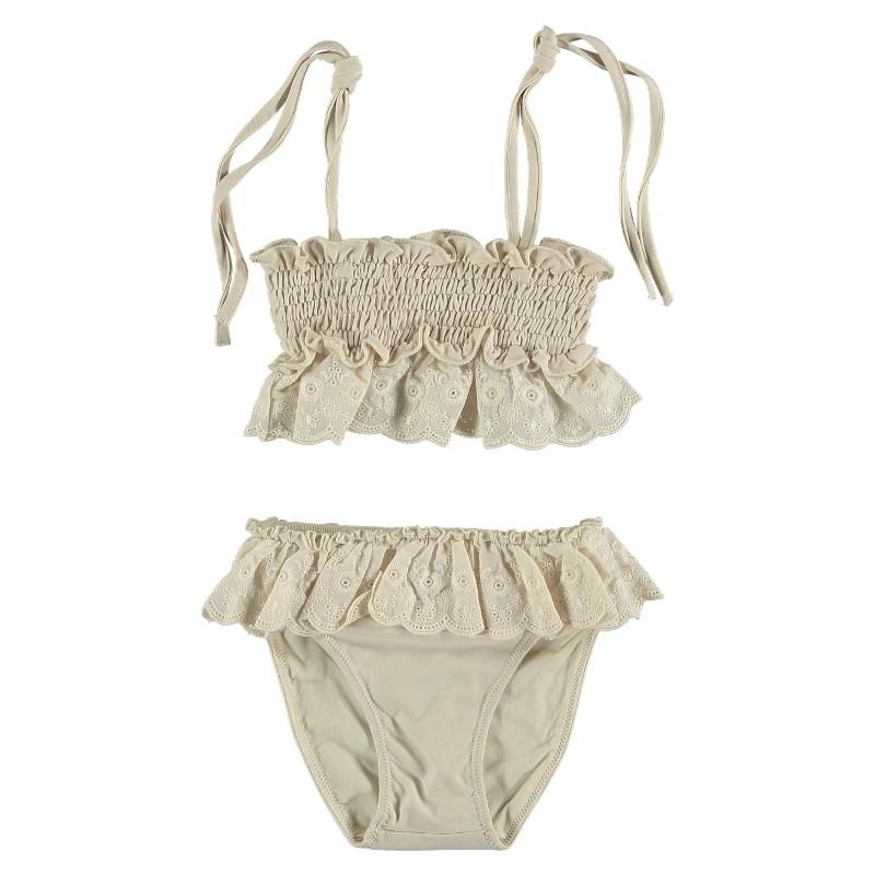 Bikini set EMBORIDERED LACE Beige