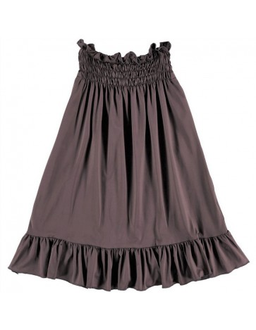 Wraparound SKIRT LONG Burgundy